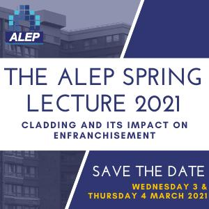 The ALEP Spring Lecture 2021 - SAVE THE DATE