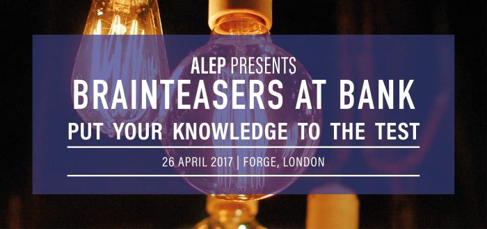 ALEP's Annual Quiz Night: Brainteasers at Bank!