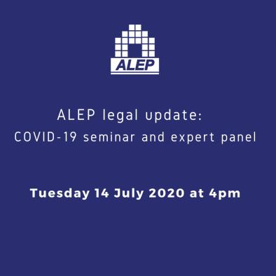 ALEP legal update:  COVID-19 seminar and expert panel